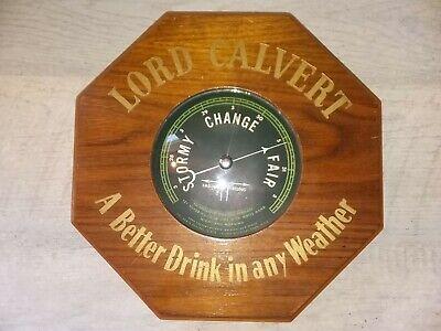 VIntage 40-50s LORD CALVERT Whiskey Standing+Hanging Barometer Bar Sign Display