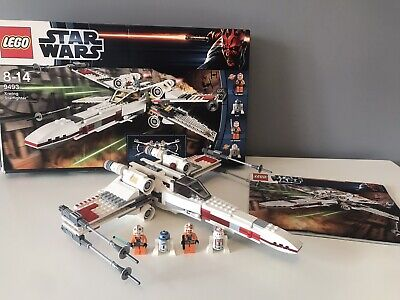 LEGO Star Wars 9493 X-Wing Starfighter 100% Complete With All Mini Figures,