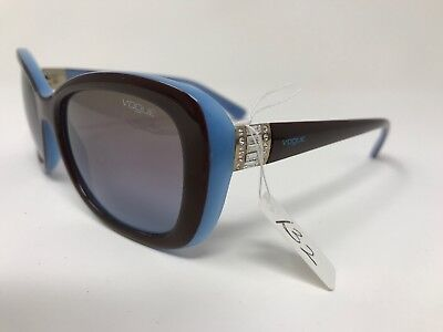 Vogue Designer Sunglasses VO2943-SB 2011/48 55-17-135 Glossy Brown/Blue HS17
