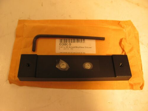 """ORION 03800 1/4 """" ADAPTER PLATE  for OLD STYLE EQ SCOPES"""
