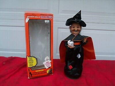 TELCO MOTION-ETTES OF HALLOWEEN ANIMATED AND ILLUMINATED DISPLAY FIGURE WITCH  - Motion Ettes Of Halloween