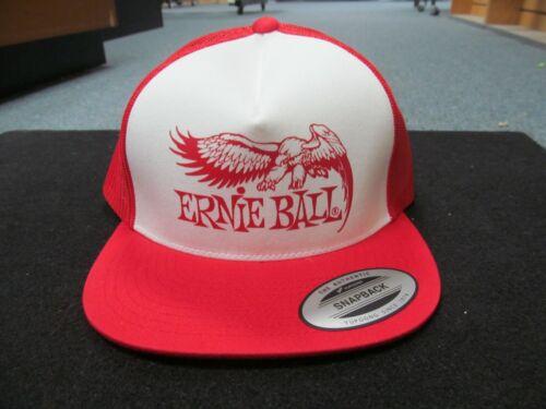 Ernie Ball Red and White Eagle Logo Hat P04160 Trucker Hat Guitar Musician Cap