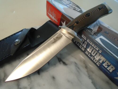 Gil Hibben Tundra Hunter Bowie Fixed Blade Combat Knife Full Tang GH5077 Leather