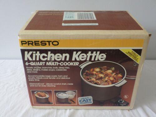 Vintage Preston Kitchen Kettle 6-Quart Multi-Cooker Fryer Slow Cooker