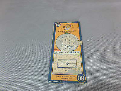 Card Michelin No 80 Los Angeles-Nimes 1945/Collector Bibendum Vintage