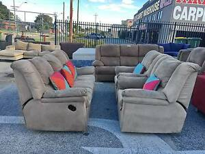 TODAY DELIVERY BROWN CHOCOLATE 3X2 sofas set lounge SALE Belmont Belmont Area Preview