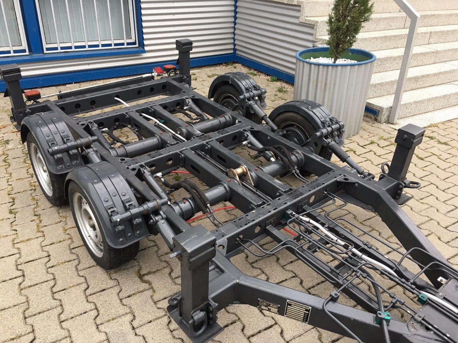 PKW Absetzanhänger mit Fahrgestell Tieflader mit Pendelachse, Anhänger 3,5 t