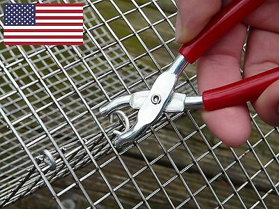 Mini hog ring ringer pliers cages fencing packaging upholstery dolls automotive