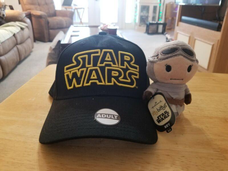 Hallmark Itty Bitty Bittys REY Star Wars  NWT  Plush Toy and Star Wars Hat