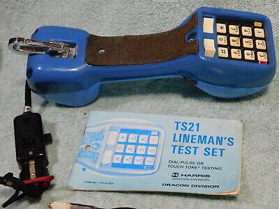 Harris Telephone Phone Craft Test Set Buttset Ts21 Tester Lineman Box Handset