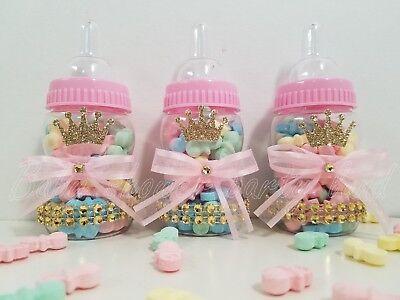 Baby Shower 12 Princess Favor Fillable Bottles Prizes Games Girl Pink Decoration - Princess Baby Shower Games