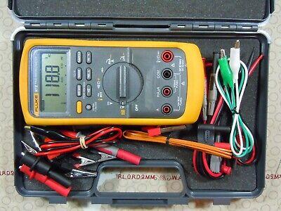 Fluke 87 V Multimeter Kit With Leads Free Hard Case - 15684-480843.