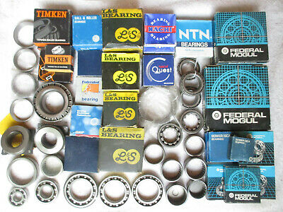Large Lot Of 55 Mixed Ball Roller Needle Bearings Cups Timken Bca-federal Etc