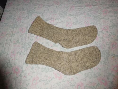 Vintage Childs/Youth Wool Oatmeal Winter Color Socks