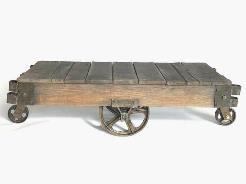Antique Lineberry Hamilton Factory Cart / Coffee Table all Original Cast Iron
