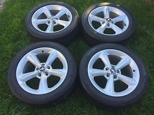 """2011 Ford Mustang 18"""" OEM Rims and Tires Amazing Condition"""