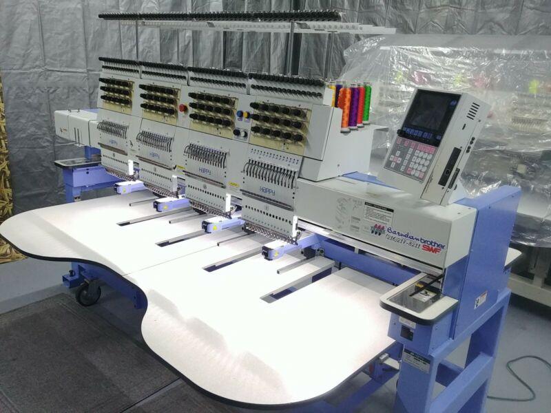 Happy Commercial embroidery machine Reads Tajima SWF