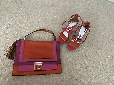 Stunning Karen Millen Shoes Size 5 And Matching Bag With Dust Bag