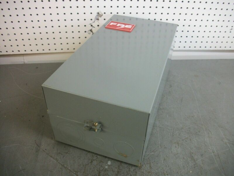 FEDERAL PACIFIC ENCL SIZE 4 MOTOR STARTER 4204 CU43-26 120VCOIL 3PH 100HP NOB