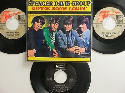 LOT OF 4 ' SPENCER DAVIS GROUP/SIR DOUGLAS QUINTET ' HIT 45's+1P(Copy) THE