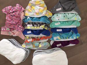 Lot de couches lavables (14)