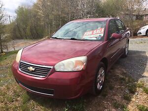 2006 Chevy Malibu new two-year MVI