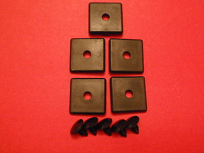 8020 8020 Equivalent - 2015 - 10 Series Black End Cap Wpush-in 5 Pcs - Blank