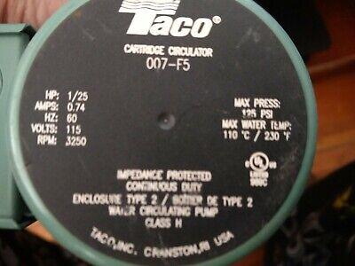 Taco 007-f5 Cartridge Circulator Pump - New In Box