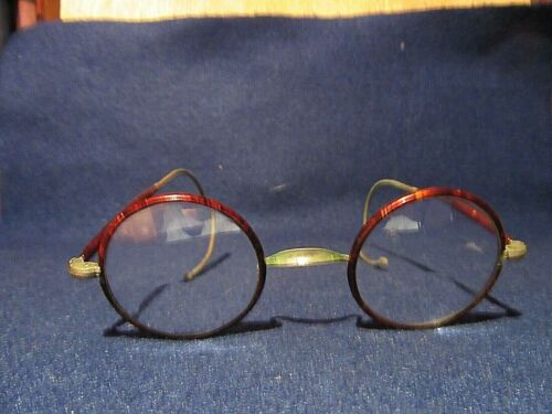 Antique Eyeglasses Tortoise Silver Glasses Frame