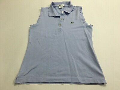 Lacoste Polo Tank Top Women Sleeveless Shirt 38 Small Blue