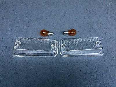 Fiat 126 Front Indicator Light Covers Clear Inc Bulbs