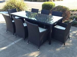 NEW Modern Rectangular 9 Piece Outdoor Dining Set Furniture Dingley Village Kingston Area Preview