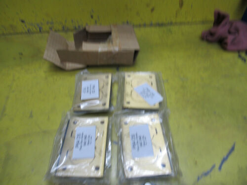 """4 Steel City P64 DS Brass Cover Plates for 640 840 Duplex Floor Box 3"""" x 4-1/2"""""""