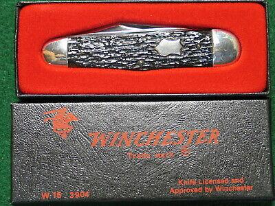 Winchester 3904-3 Backspring Whittler-'88-jigged brown bone-pristine mint cond