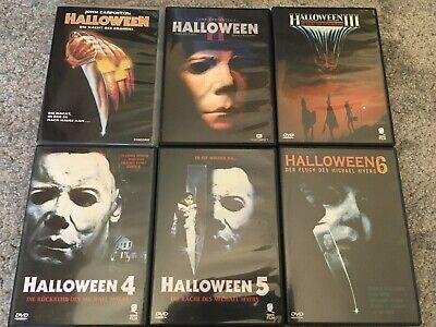 Halloween Teil 1 - 2 - 3 - 4 - 5 - 6 DVD gebraucht selten