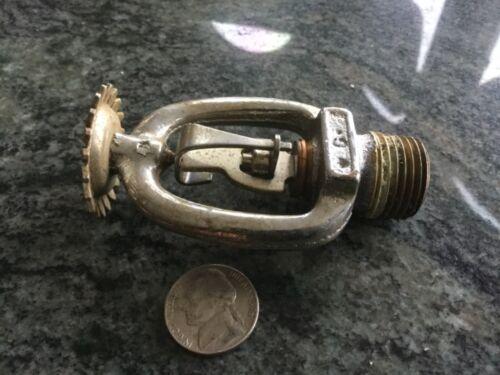 used globe 165 chrome FIRE SPRINKLER HEAD UPRIGHT FUSABLE LINK 1/2 NPT vintage