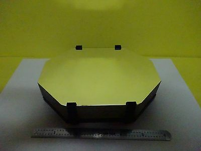 Huge Thick Heavy Optical Mounted Mirror Mil Spec Laser Optics As Is Binx2-44