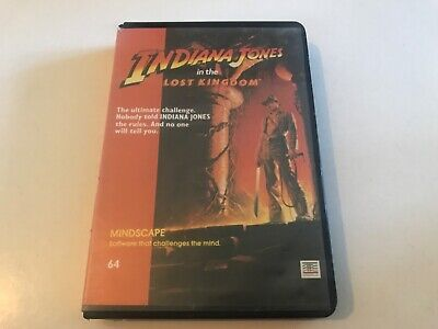 INDIANA JONES IN THE LOST KINGDOM COMMODORE 64 CASSETTE GAME