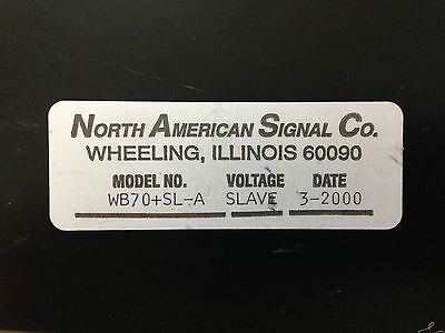 North American Signal Co. Strobe Light Wb70sl-a