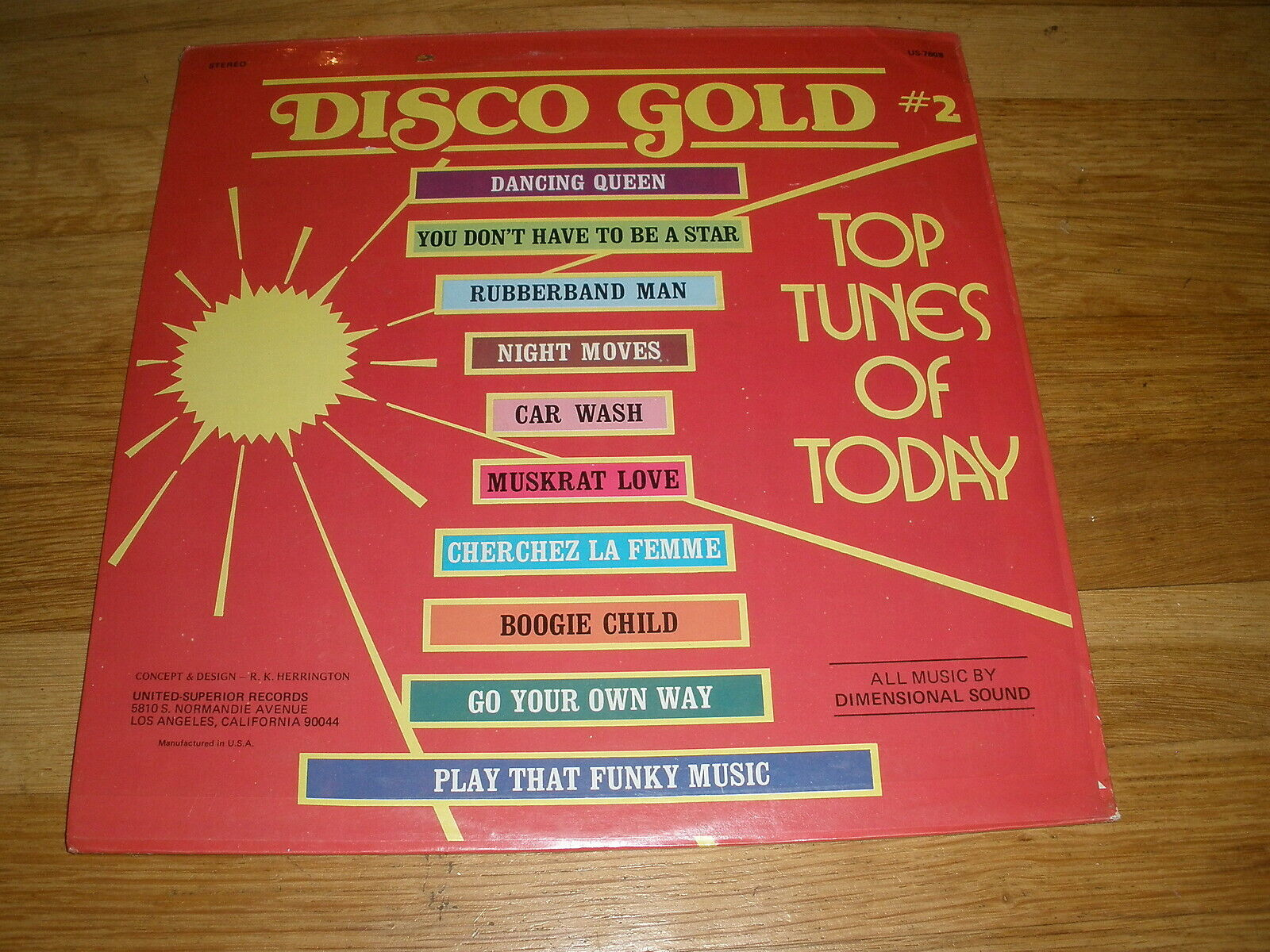 DISCO GOLD #2 top tunes of today LP Record - Sealed