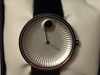Movado Edge Silver Aluminum Dial Men's Watch 3680001 Brand New w/Tags & Warranty