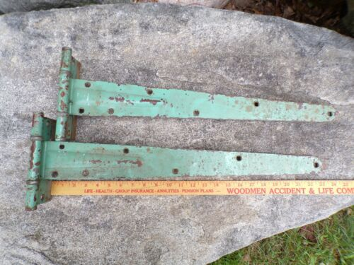 Pair Antique Strap Hinges Old Barn Cabin Shed Gate Farmhouse Primitive Door