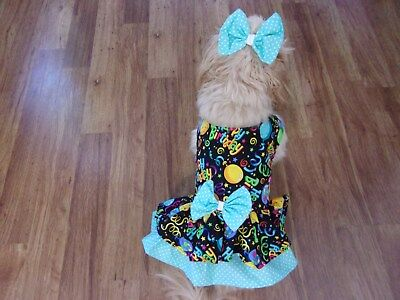 """dog dress,colorful """"Happy Birthday"""",Large for small breeds(read size details)"""