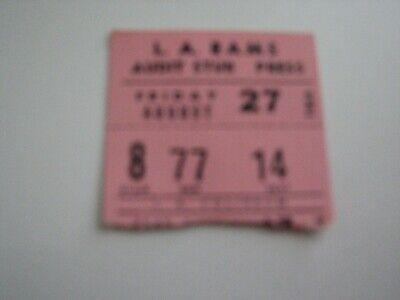 1954 NFL Press Ticket Stub  Los Angeles Coliseum  L.A. Rams vs. Cleveland Browns (Cleveland Browns Ticket Stub)