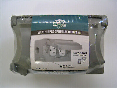 BELL Outdoor Weatherproof Duplex Outlet Kit 5839-5WRTRB Duplex Ac Outlet
