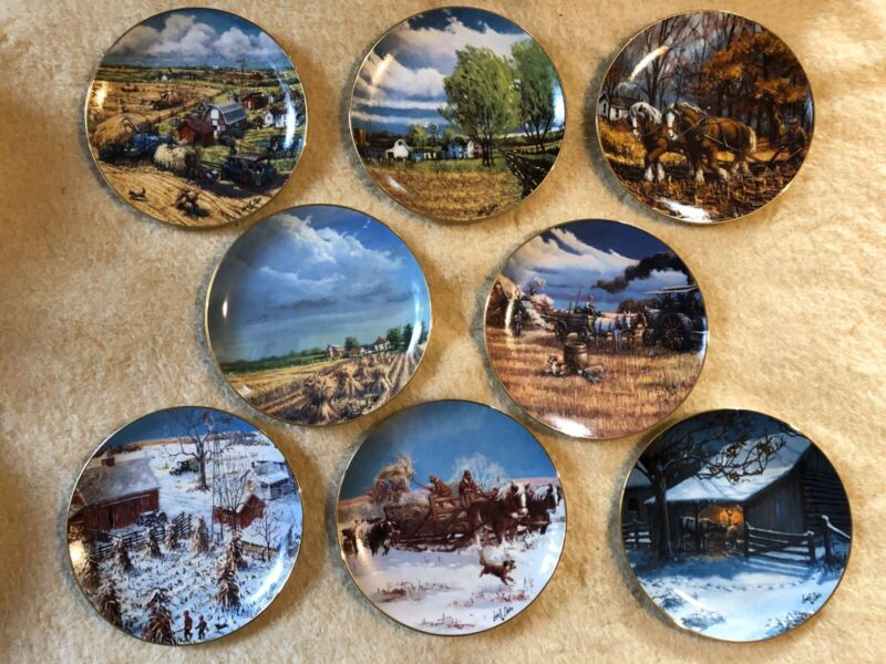 1991 AMERICAN FARM collector plates. original packaging full set MINT