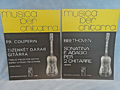 """2 Vintage pieces: """"Twelve pieces for Guitar"""" by Couperin and """"Sonatina..."""" by Be"""