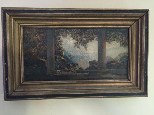 "Vintage Oil on Canvas Study of Maxfield Parrish ""Daybreak"""