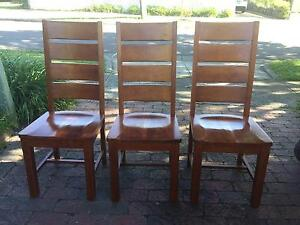 Unique Solid set of 3 solid wood original chairs ! Watsonia Banyule Area Preview