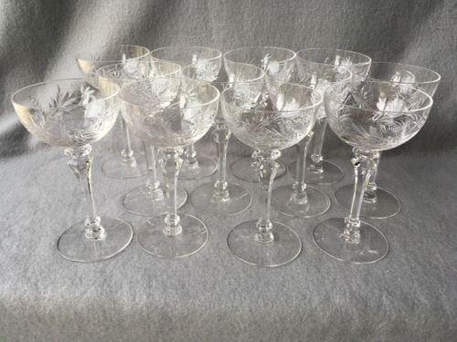 12 Tiffin-Franciscan Mirabelle Liquor Cocktail Glasses